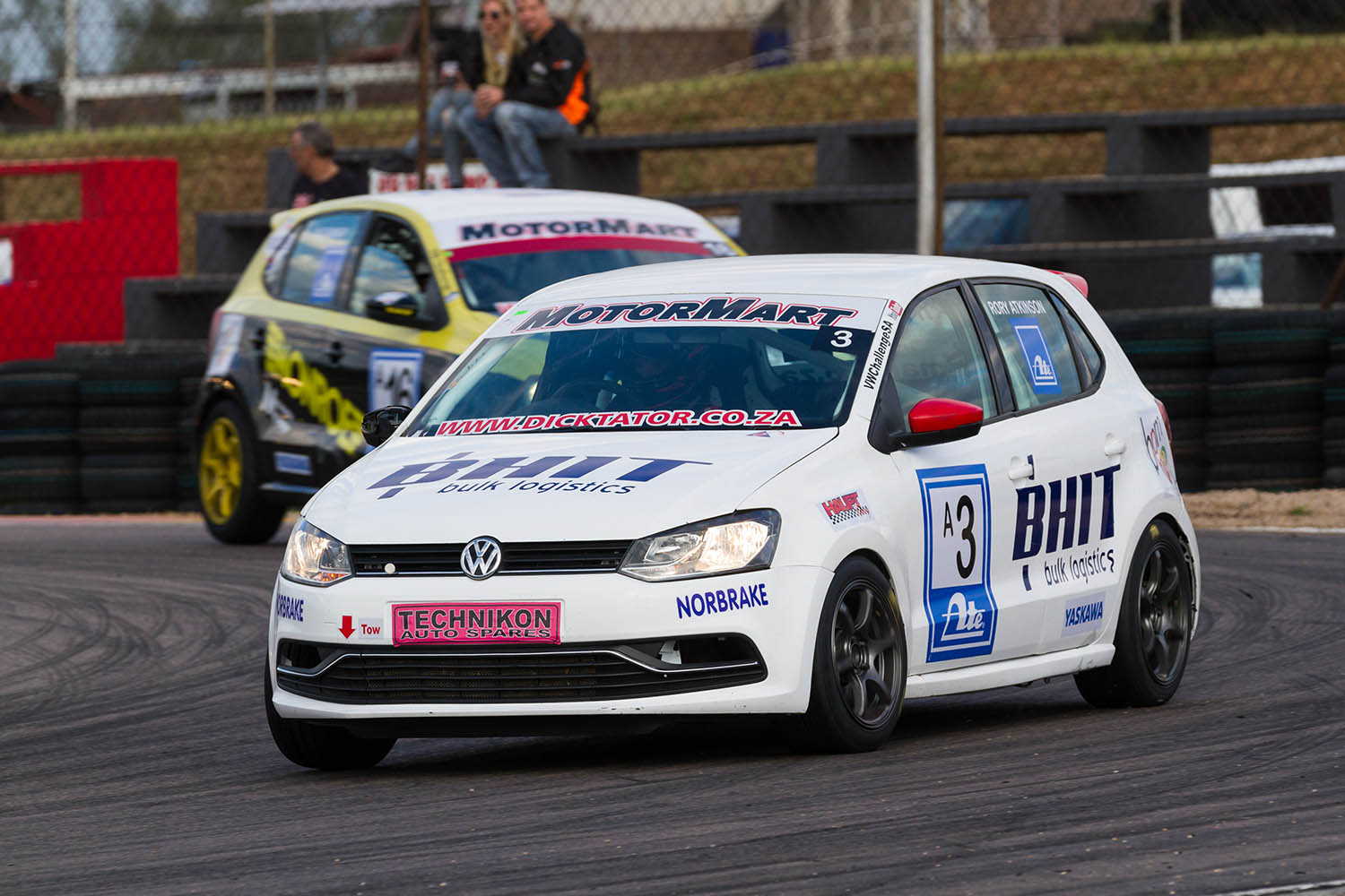 Rory Atkinson took the second class A race win from Lyle Ramsay